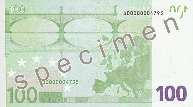 100 euros reverso