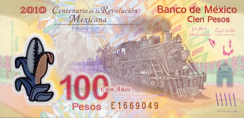 100 pesos conmemorativa