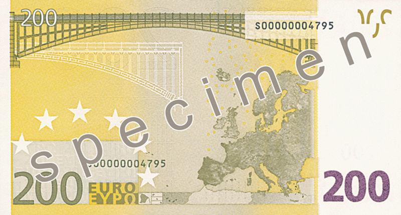 200 euros reverso