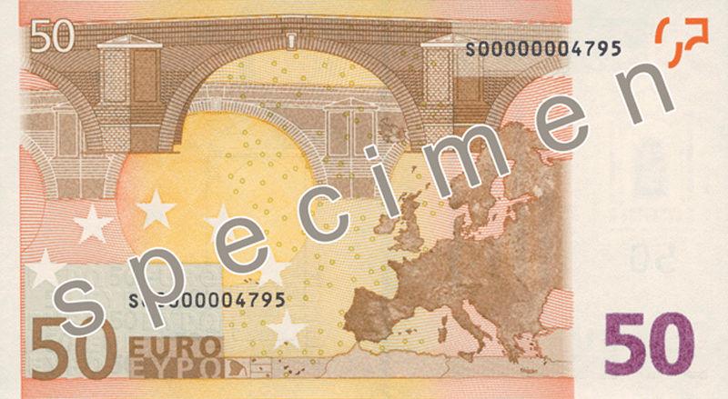 50 euros reverso