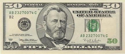Billete 50 dolares