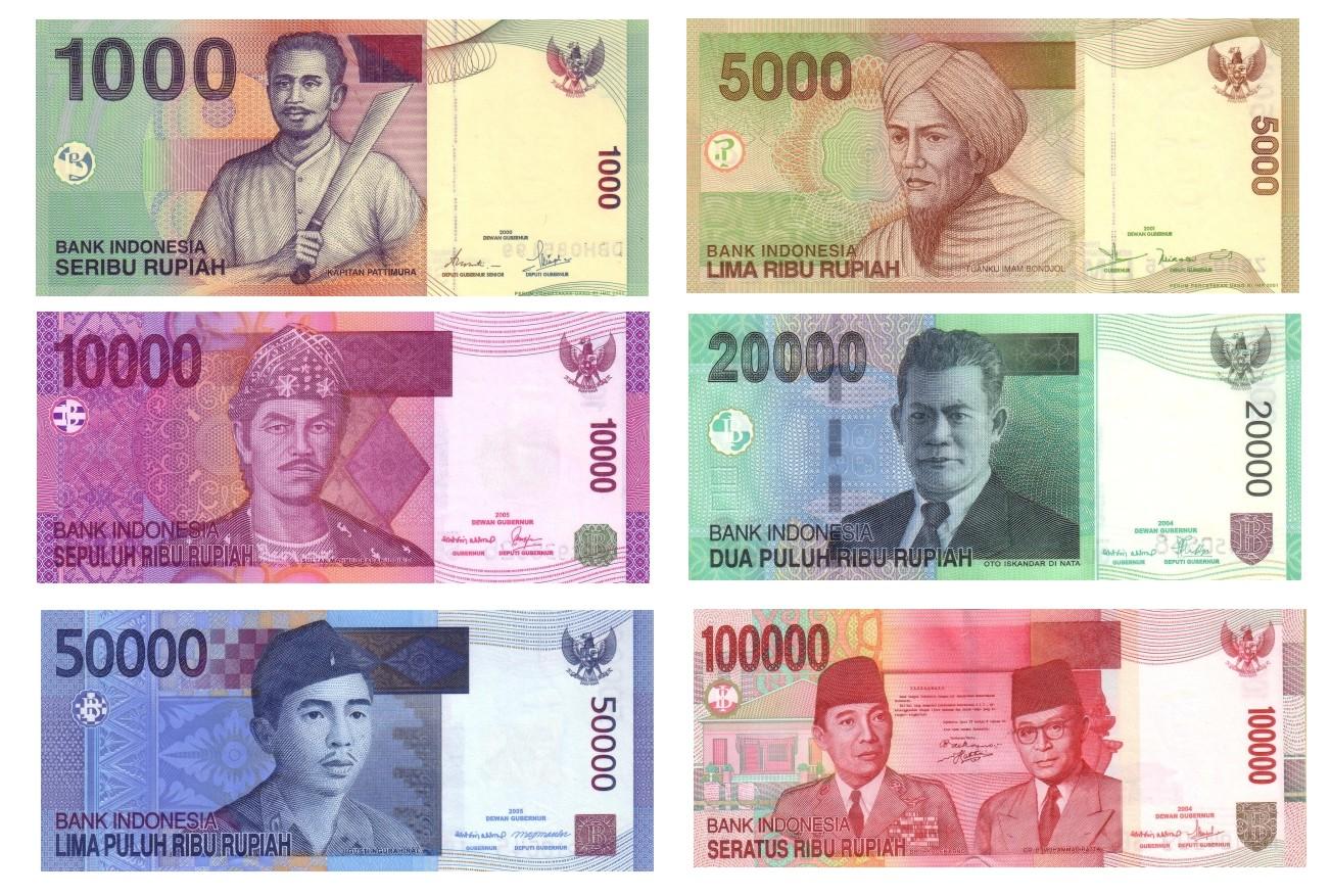 billetes dinero bali rupias