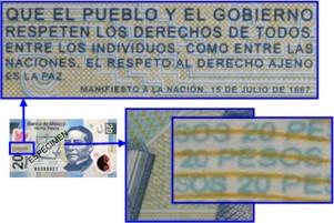 microimpresion 20 pesos