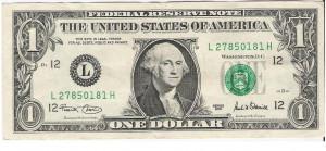 billete 1 dolar