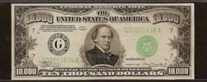 billete 10000 dolares