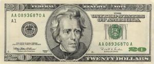 billete 20 dolares