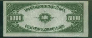 billete 5000 dolares reverso