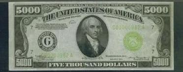 Billete 5000 Dolares