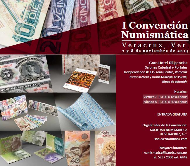 convencion numismatica I veracruz