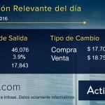 Precio del dólar en ventanilla de Actinver