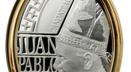 medalla canonizacion juan pablo segundo