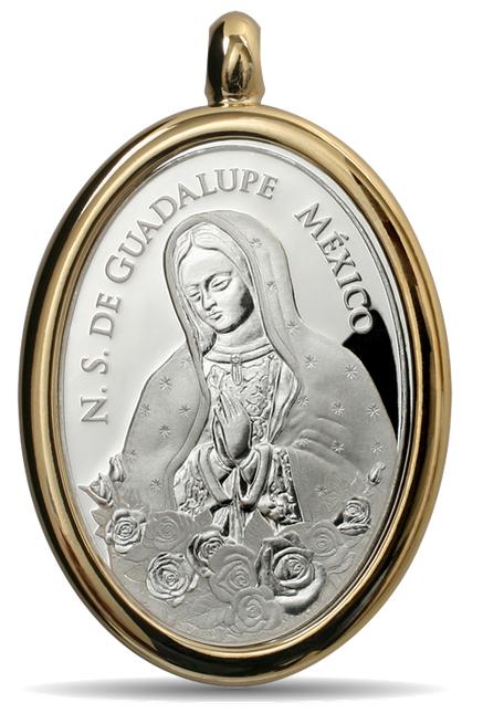 medalla canonizacion juan pablo segundo guadalupe