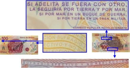 microimpresion 100 pesos conmemorativo