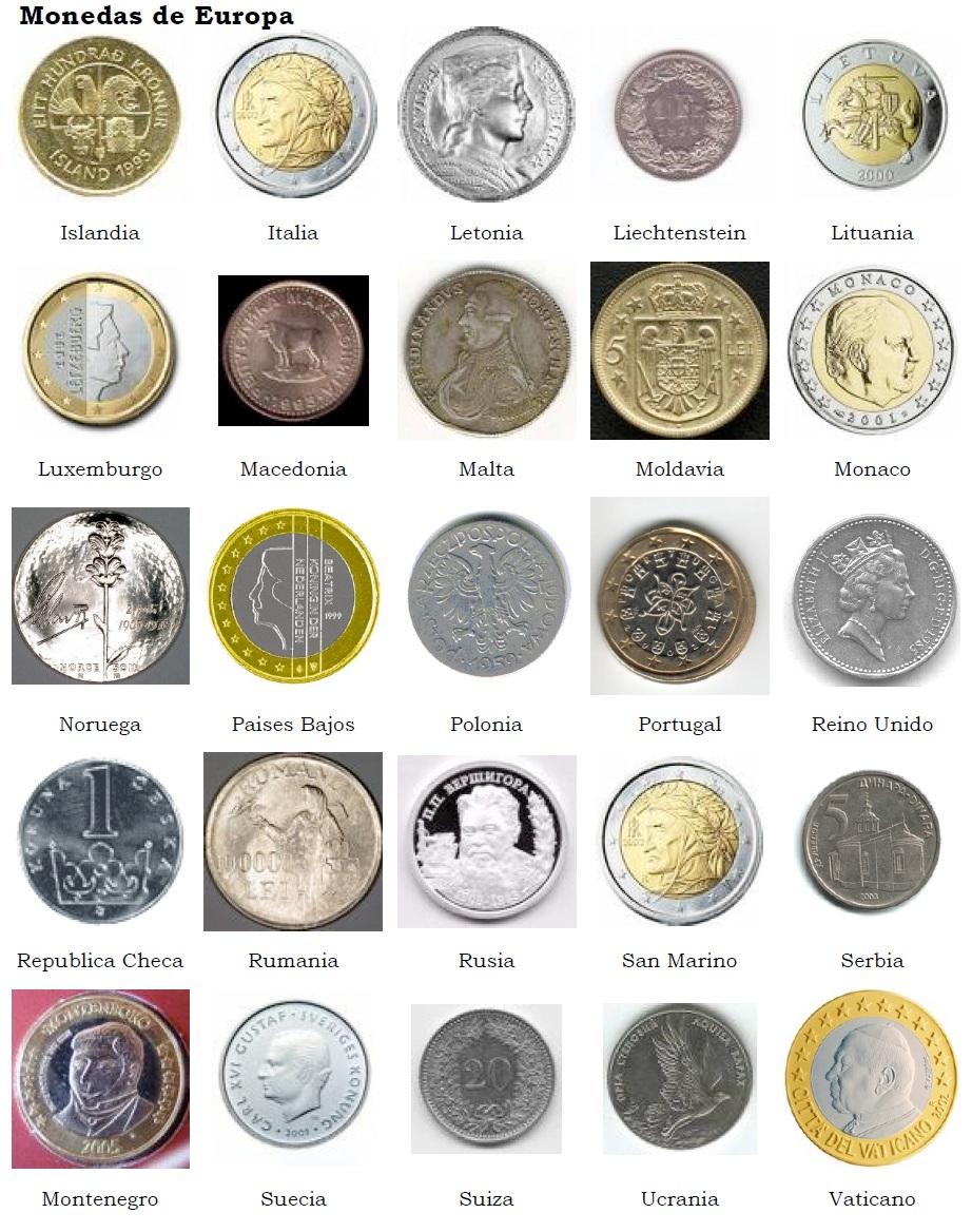 monedas europa