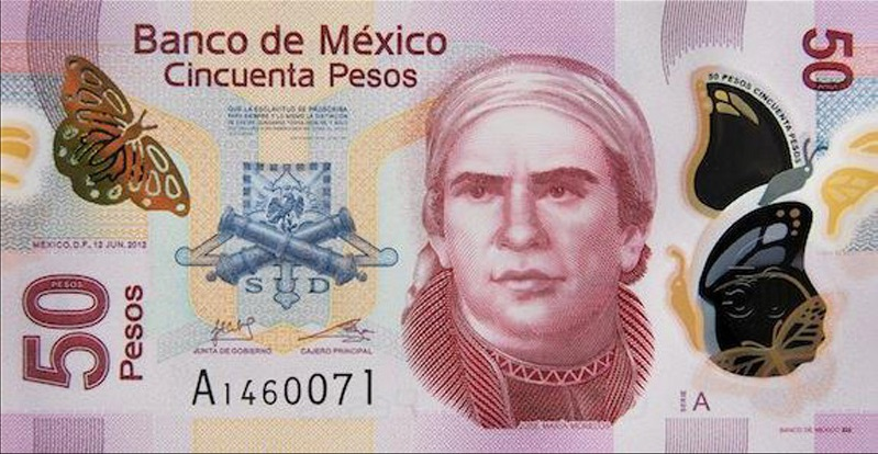 nuevo billete 50 pesos mexicanos