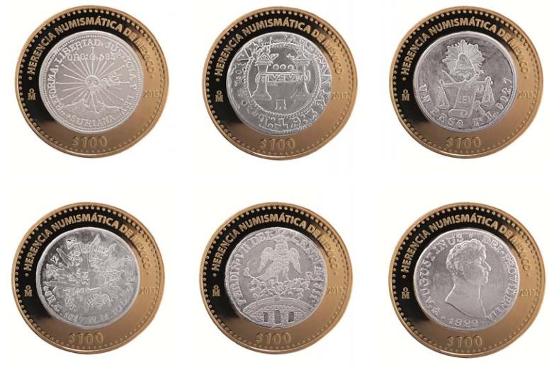 reversos tercera serie herencia numismatica