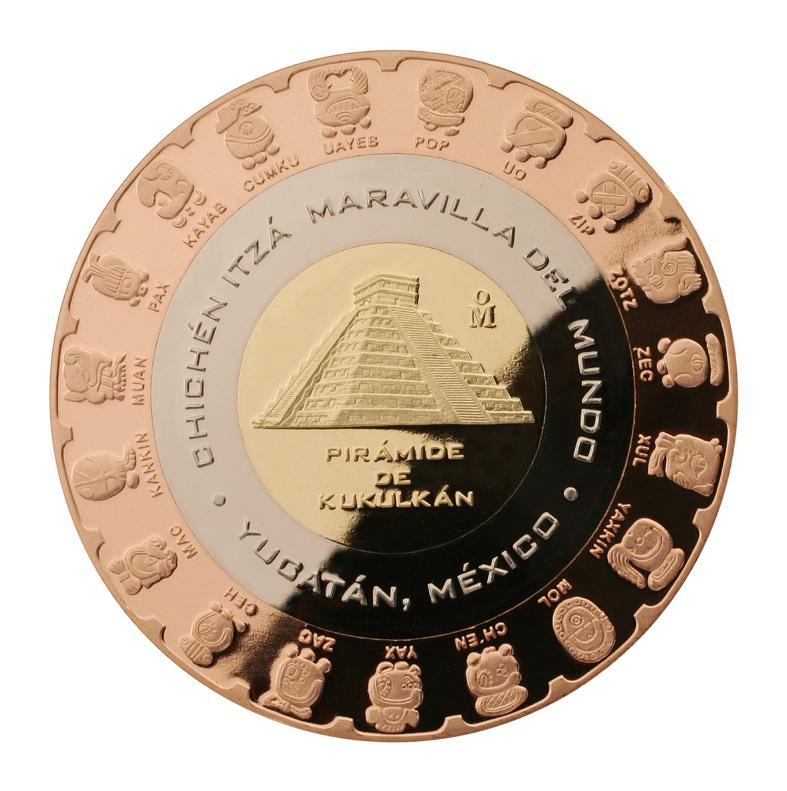 trimetalica 20 pesos kukulkan